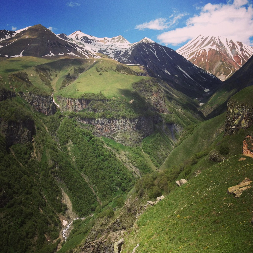 Caucasus mountains Georgia